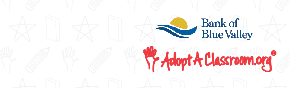 Bank and AdoptAClassroom.org logos